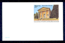 UX170 UPSS# S183 19c Playmakers Theatre Mint Postal Card