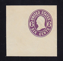 U64 6c Purple on White, Mint Cut Square, 50 x 50