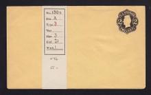 U46 UPSS # 102a 2c Black on Buff, die 1, Mint Entire