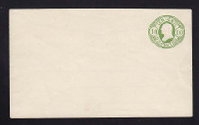 U40 UPSS # 91 10c Green on White, Mint Entire, Scarce Knife, Adherence on back