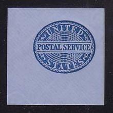 UO17 Blue on Blue, Mint Cut Square, 50 x 50