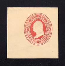 UO36 3c Vermillion on Cream, Mint Full Corner, 45 x 45