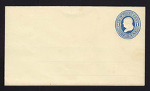 U75 UPSS # 147 1c Blue on Amber, Mint Entire with Ruled Lines, paper hinge on back