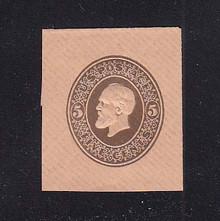 U226 5c Brown on Fawn, Mint Cut Square, 37 x 42