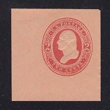 U246 2c Red on Fawn, Mint Full Corner, 46 x 48