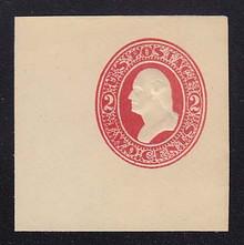U227 2c Red on White, Mint Cut Square, 47 x 47
