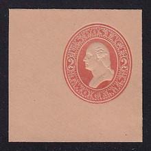 U230 2c Red on Fawn, Mint Full Corner, 50 x 50