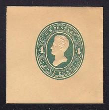 U258 4c Green on Manila, die 2, Mint Full Corner, 50 x 50