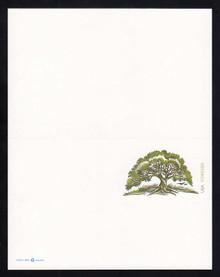 UY52 UPSS# MR62 (34c) Tree Mint UNFOLDED