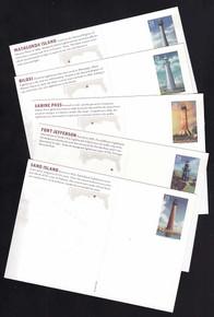 UX562-66 UPSS # S579-80 28c Gulf Coast Light Houses Mint Postal Cards