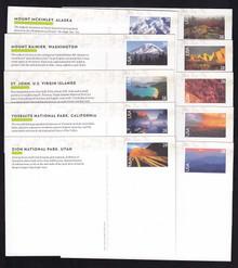 UX601-10 UPSS # S615-24 28c Landscapes  Mint Postal Cards