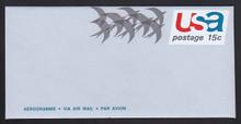 UC44a, UPSS #ALS-12 15c Birds in Flight, with AEROGRAMME, Mint, FOLDED