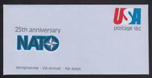UC49, UPSS #ALS-15 18c Nato 25th Anniversary, Mint, FOLDED