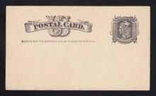 UX7a UPSS# S6b 1c Liberty Head, 23 Teeth Variety, Mint Postal Card
