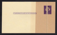 UX46 UPSS# S63PUv-2b 3c Statue of Liberty, Paste-up,  Mint Postal Card