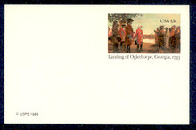 UX98 UPSS# S115 13c Oglethorpe Mint Postal Card