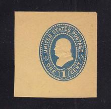 U304 1c Blue on Amber Manila, Mint Full Corner, 43 x 44