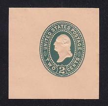 U320 2c Green on Oriental Buff, die 3, Mint Cut Square, 48 x 48