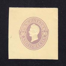 U343 90c Purple on Amber, Mint Full Corner, 43 x 43
