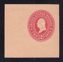 U369 2c Carmine on Oriental Buff, die 3, Mint Cut Square, 47 x 47