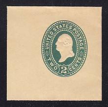 U322 2c Green on Manila, die 3, Mint Full Corner, 50 x 50