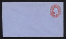 U229 UPSS # 656-6 2c Red on Blue, Mint Entire