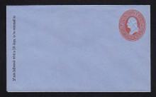 U229 UPSS # 657-5 2c Red on Blue, Mint Entire, GR