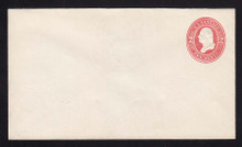 U231 UPSS # 668 2c Red on White, Mint Entire, Horizontally Laid Paper