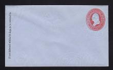 U233 UPSS # 675-6 2c Red on Blue, Mint Entire, GR