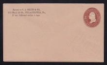 U263 UPSS # 699 2c Brown on Fawn, Mint Entire, CC