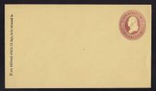 U284 UPSS # 838-7 2c Brown on Amber Manila, die 1, Mint Entire, GR
