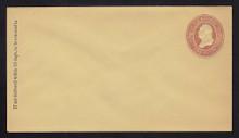 U284 UPSS # 839-7 2c Brown on Amber Manila, die 1, Mint Entire, GR