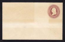 U277 UPSS # 791a-6 2c Brown on White, die 1, Mint Entire, toning