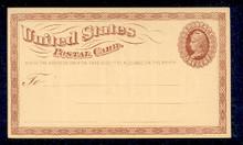 UX1 UPSS# S1 1c Liberty Head, Large Watermark Mint Postal Card