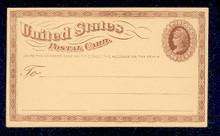 UX3 UPSS# S2 1c Liberty Head, Small Watermark Mint Postal Card