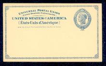 UX6 UPSS# S5 2c Liberty Head, Blue International Mint Postal Card