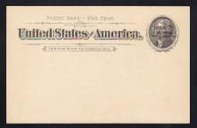 UX12 UPSS# S14Sp-1 1c Black Thomas Jefferson, Overprinted Universal Postal Congress