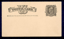 """UX7 UPSS# S6 1c Liberty Head, """"Nothing but addr..... Mint Postal Card"""