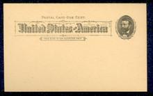 UX10 UPSS# S10 1c Grant, Black on Buff Mint Postal Card