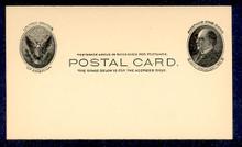 UX18 UPSS# S22 1c William McKinley, black on buff Mint Postal Card