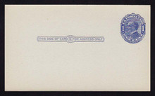 UX21 UPSS# S28 1c William McKinley, Blue on bluish, Shaded Background Mint Postal Card
