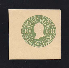 U72 30 Green on Buff, Mint Cut Square, 43 x 42