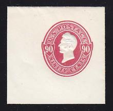U211 90c Carmine on White, Mint Full Corner, 50 x 50