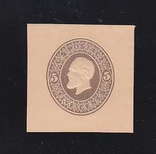 U224 5c Brown on Oriental Buff, Mint Cut Square, 39 x 39
