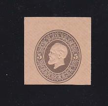 U226 5c Brown on Fawn, Mint Cut Square, 32 x 37