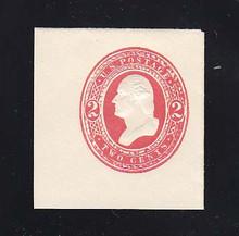 U243 2c Red on White, Mint Full Corner, 41 x 44