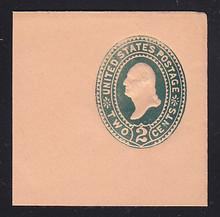 """U312 2c Green on Oriental Buff, die 2, CAP ON """"2"""", Mint Full Corner, 50 x 50"""