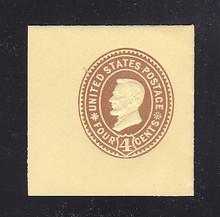 U375 4c Brown on Amber, die 3, Mint Full Corner, 43 x 44