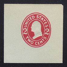 U414g 2c Carmine on Blue, die, 8, Mint Full Corner, 50 x 50