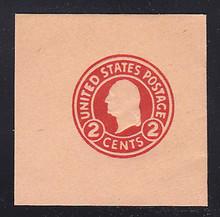 U431 2c Carmine on Oriental Buff, die 1, Mint Full Corner, 50 x 50